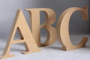Объемные буквы из МДФ